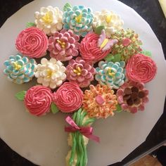 Cupcake bouquet I made for my grandmothers birthday :)