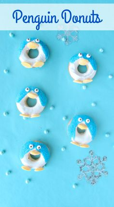 Penguin Donuts are a perfect breakfast for Chirstmas morning and holiday party dessert. They even stand up!