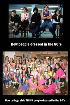 I wore an 80s prom dress to an 80s themed dance once while everyone else wore that!