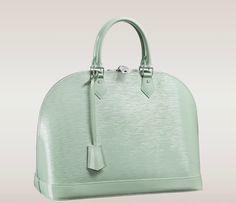 Louis Vuitton Alma Epi Leather Top Handle Bag in Amande Electric. Lv Handbags, Louis Vuitton Handbags, Fashion Handbags, Fashion Bags, Handbags 2014, Fashion Ideas, Vuitton Bag, Handbags Online, Designer Handbags