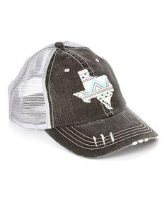 Look what I found on #zulily! Gray Tribal Texas Trucker Hat by Rhinestone Junkie #zulilyfinds