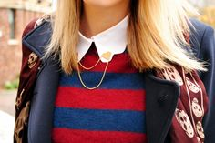 scalloped collar and brooch