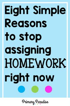 Homework: should you still be sending it home in your elementary classroom? Here are 8 reasons why you shouldn't waste your (or your students' time) with homework. New Teachers, Elementary Teacher, Upper Elementary, Elementary Schools, Back To School Organization, Teacher Organization, Teacher Hacks, Teaching Second Grade, First Grade Reading