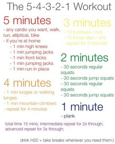 15 Minute Workout Plan.  #fitness #gym #workout Good one!! 2 times through and with supersetting (no rest) that's 30 minutes of good intense workout!