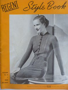 Regent Style Book, Volume 10 1942 - sweater, cardigan, coat jacket, suit, skirt  1472 by CarolsCreations77 on Etsy