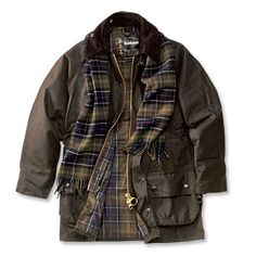 Barbour Beaufort jacket. I'll take the scarf, too.
