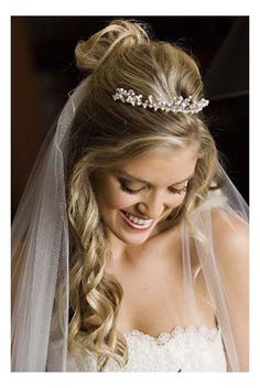 Hairstyles, Bride Hairstyles With Veil And Tiara: Hairstyles with veil  I wish my hair curled...
