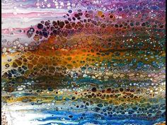 """Acrylic Pour Painting: A Dirty Pour And The """"Save Yourself Swipe"""" - YouTube"""