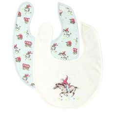 Ideal for feeding time, these little Baby Elephant print bibs are just the thing for keeping baby clean! They are soft enough to wipe little faces, and there are plenty of matching items available for a cute coordinated look.