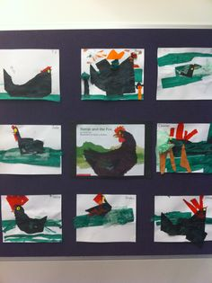 Mem Fox Hattie and the Fox tissue paper collages Teaching Literature, Education And Literacy, Children's Literature, Literacy Activities, Teaching Art, Mem Fox Books, Picture Story Books, Tissue Paper Art, Fox Crafts