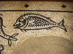 Roman Mosaic. Fish. Mérida (Emerita Augusta), Spain.