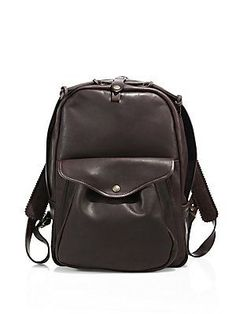 Filson Journeyman Leather Medium Backpack - Sierra Brown