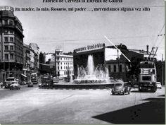 Estrella de Galicia, emblemática sede con su maravillosa terraza rodeaada de muros de piedra, en la Plaza de Cuetro Caminos, A Coruña