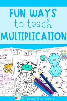 Teaching multiplication to your 3rd grade students should be fun. Use anchor charts and flip books to introduce each multiplication strategy and then hands-on games, activities and printables to help them remember their times tables. The multiplication activities are perfect for math centers, partner work, morning work or extra activities for early finishers. #multiplication #timestables #multiplicationgames #multiplicationactivities
