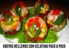 rHedBuscando: Huevos transparentes rellenos con gelatina  tutori...