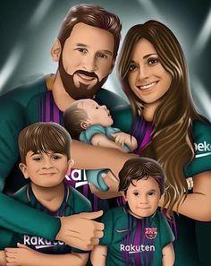 Lionel Andrés Messi and Family Lional Messi, Messi Soccer, Messi And Ronaldo, Cristiano Ronaldo, Fc Barcelona, Lionel Messi Barcelona, Messi Y Antonella, Lionel Messi Family, Fifa