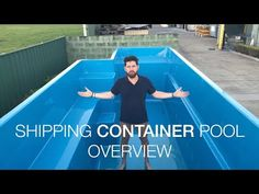 Shipping Container Pools are above ground pools built from shipping containers with a fiberglass pool insert. Each pool is pre-assembled with the plumbing under the decking and with the chid safety door and stairs, you would not need any fencing. Container House Plans, Container House Design, Shipping Container Pool Cost, Shipping Containers, Swimming Pools Backyard, Swimming Pool Designs, In Ground Pools, Above Ground Pool, Above Ground Fiberglass Pools