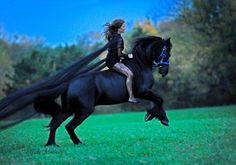 love that she's riding bareback