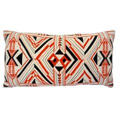 Check out this item at One Kings Lane! Red & Black Southwestern Pillow