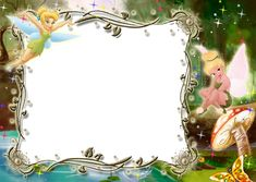 Kids Transparent Photo Frame with Tinkerbell Tinkerbell Disney, Tinkerbell Party, Walt Disney, Garden Birthday, Fairy Birthday Party, Tinkerbell Invitations, Photo Frames For Kids, Disney Frames, Autograph Book Disney