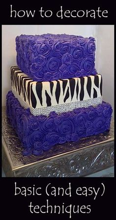 Basic decorating techniques for beautiful cakes.