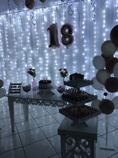 18th Birthday Gifts For Girls, 18th Birthday Party Themes, Birthday Party Decorations For Adults, Handmade Birthday Gifts, 18th Birthday Cake, Diy Birthday, Birthday Balloons, Rose Gold, Balloon Decorations Party