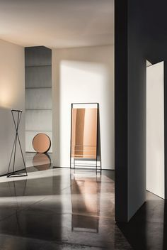 wall-mounted mirror with integrated lighting led line by boffi ... - Specchio Free Standing Temira Sovet