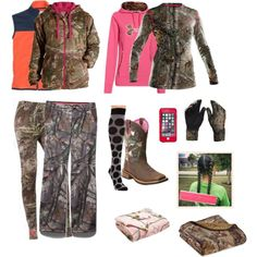 Hunting and It's FREEZING by abby-walker02 on Polyvore featuring Realtree, Under Armour, Smartwool, LifeProof and Ariat