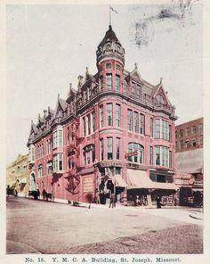 YMCA. ca 1900. 7th & Felix. Schneider Building - St. Joseph, Mo. - http://ilovestjosephmo.com/ymca-ca-1900-7th-felix-schneider-building-st-joseph-mo