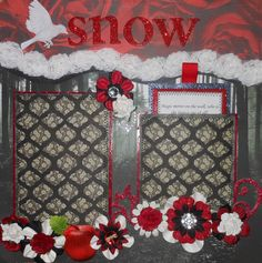 This is the first page of a beautiful Snow White layout that I created.