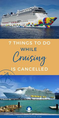 Cruising has been temporarily cancelled but you don't have to miss out on the fun. Here we share 7 things you can do to keep your cruise vacation dreams alive. From dreaming of your next destination to booking your next cruise, there are plenty of things you can do to satisfy your wanderlust. Check out this post, prepare your packing list and you'll be ready to set sail as soon as cruising resumes! #Cruising #Cruise #CruiseVacation #CruiseTips #Staycation Cruise Tips, Cruise Vacation, Dream Vacations, Bermuda Vacations, Packing List For Cruise, Bahamas Vacation, Caribbean Cruise, Royal Caribbean, Shore Excursions