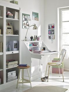 Classic white working space