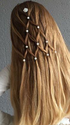 – – - New Site Braided Prom Hair, Kids Braided Hairstyles, Diy Hairstyles, Pretty Hairstyles, Straight Prom Hair, Girl Hair Dos, Natural Hair Styles, Long Hair Styles, Pinterest Hair