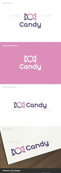Candy Logo - Food Logo Templates