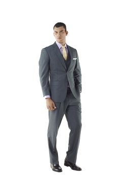 Custom Made Mens Three Piece Suit in Shades of Grey by Ravis Custom Tailor