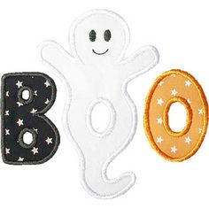Boo Ghost Applique by HappyApplique.com
