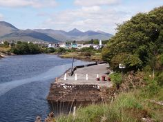 View of Sneem from the Pier Ring of Kerry Ireland