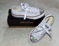 Customised Converse All White Shoes c00b12ec3
