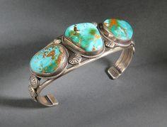 Navajo Royston Turquoise Bracelet #9353
