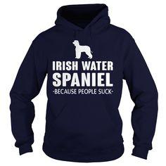 Irish Water Spaniel Because People Suck - w