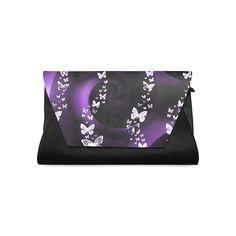 Purple Butterfly Swirl Clutch Bag (Model 1630)