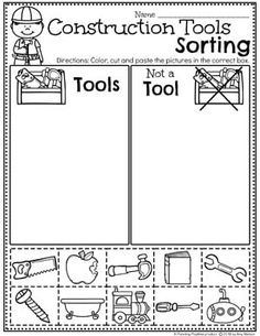Looking for fun Preschool Construction Theme Activities for kids? Check out these 16 Hands-On Construction Learning Activities and Crafts for Preschool or Kindergarten. Preschool Learning Activities, Preschool Themes, Preschool Lessons, Preschool Worksheets, Preschool Classroom, Kindergarten, Construction Theme Preschool, Construction Birthday, Community Helpers Preschool