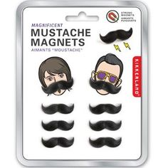 Mustache Magnets $8 from the onion store http://store.theonion.com/p-5267-mustache-magnet-set.aspx