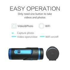 #Sports #Action #Camera Genixgreen G1S #Night #Version H.265 Sony IMX291 2.13MP #Starlight Sensor Wi-Fi HD 1080P Camcorder With 3400mAh Lithium-ion Battery & 32GB Micro SD Card G-sensor(G1S-Blue)