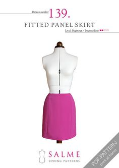 This fitted skirt is easy to make and works with a variety of fabrics. The...