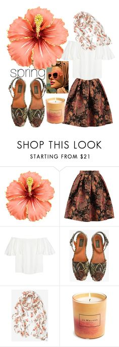 """""""spring awakening"""" by combinestuff ❤ liked on Polyvore featuring Maje, Valentino, White House Black Market and Jo Malone"""