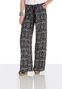 Black and white chevron palazzo pants