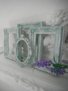 Seafoam green picture frames