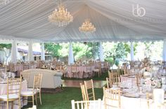 Blush tent wedding designed by Couture Events at the Inn at Rancho Santa Fe.