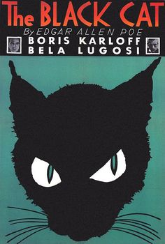 A movie poster for the The Black Cat, 1934.  This movie is sooooooo good.  I had hoped they would show it on utube, but no such luck.  Hopefully I'll be able to buy it on line.
